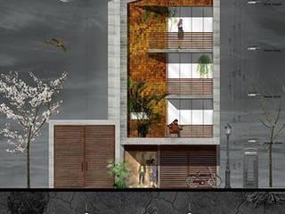 propuestra preliminar de fachada:  de estilo  por paralelocolectivo de arquitectos