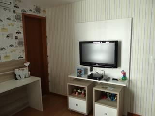 Apartamento Alphaville: Quarto infantil  por 2nsarq,Moderno