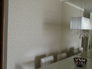 Apartamento Alphaville: Salas de jantar  por 2nsarq,Moderno