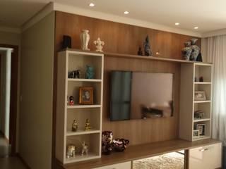 Apartamento Alphaville: Quartos  por 2nsarq,Moderno