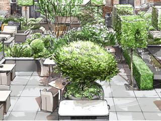 Modernisierung der Hotel Terrasse: modern  von Ecologic City Garden - Paul Marie Creation,Modern