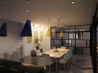 Столовая комната в стиле модерн от ANGOLO-grado arquitectónico Модерн