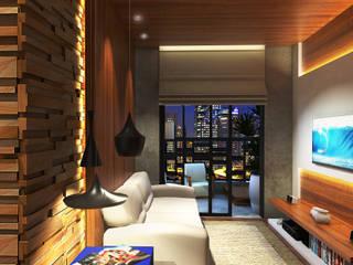 Lar 106: Salas de estar  por Julian Seifert Arquitetura