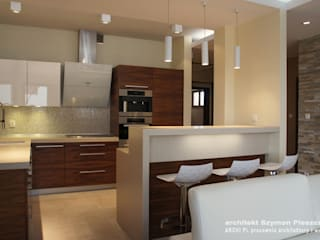 Dapur Modern Oleh architekt SZYMON PLESZCZAK - ARCHI PL PRACOWNIA ARCHITEKTURY I WNĘTRZ Modern