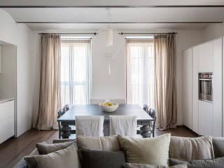 open space zona living: Soggiorno in stile in stile Moderno di Studio Perini Architetture