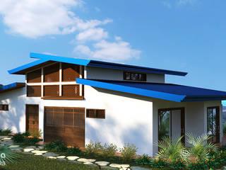 Ocean View House Design, Costa Rica Tropical style houses by Inspiria Interiors Tropical