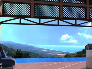 Ocean View House Design, Costa Rica by Inspiria Interiors Tropical