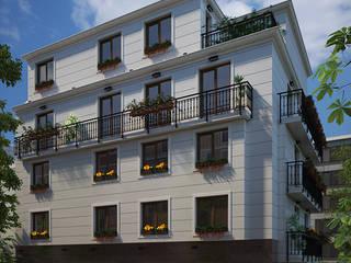 Multi Residential building, Sofia, Bulgaria Classic style houses by Inspiria Interiors Classic