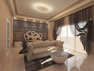 Luxury Bedroom, Oman Modern style bedroom by Inspiria Interiors Modern