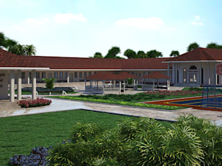 School Campus in Liberia Country style schools by Inspiria Interiors Country