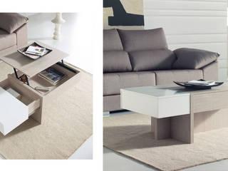 Original mesa centro en dos colores, con tapa elevable:  de estilo  de Merkamueble