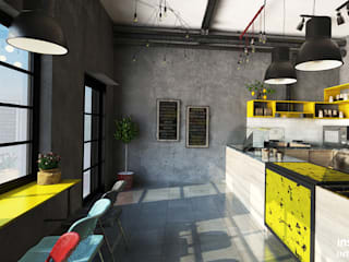 Interior Design of a Bakery / Cafeteria in SA Industrial style gastronomy by Inspiria Interiors Industrial