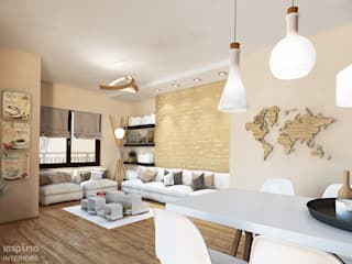 Contemporary Interior for an apartment, Sofia Гостиная в скандинавском стиле от Inspiria Interiors Скандинавский