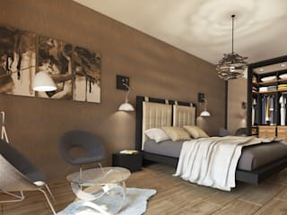 Contemporary Interior for an apartment, Sofia Scandinavian style bedroom by Inspiria Interiors Scandinavian