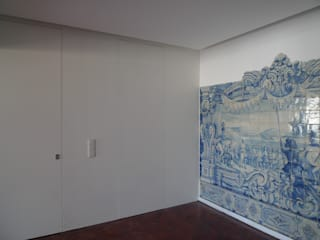Koridor & Tangga Modern Oleh QFProjectbuilding, Unipessoal Lda Modern