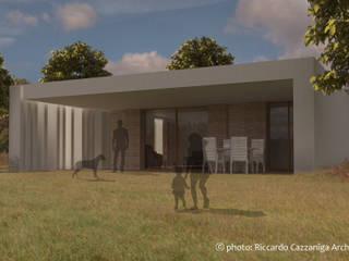 Villa privata unifamiliare Case in stile minimalista di Riccardo Cazzaniga Architetto Minimalista