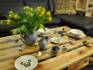 Fabryka Palet 客廳邊桌與托盤 木頭