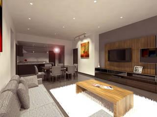 Salas multimedia de estilo moderno de ARCO Arquitectura Contemporánea Moderno