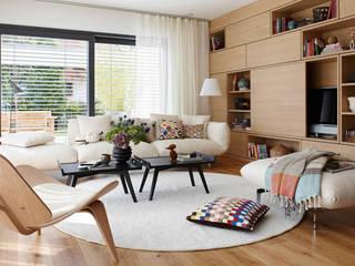 SCHÖNER-WOHNEN Haus Wohnbereich:  Wohnzimmer von SchwörerHaus,Modern