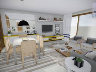 Estudo Casa Itaipu: Salas de jantar  por JS Interiores,Moderno
