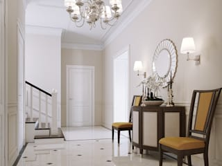 Classic style corridor, hallway and stairs by LUXER DESIGN Classic