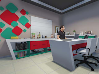 Modern study/office by ELO - Arquitetura Integrada Modern