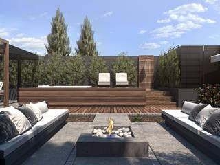 Espacio Solarium Balcones y terrazas modernos: Ideas, imágenes y decoración de TDC - Oficina de arquitectura Moderno