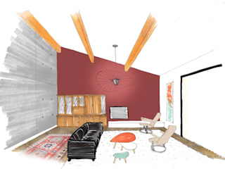Salones de estilo  de Mint Design