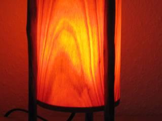 Tischleuchte, Designerleuchte, Tisch Lampe, Holz von Alpenlandkunst Ausgefallen