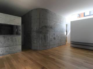 House-K モダンデザインの リビング の 春日琢磨建築設計事務所 モダン