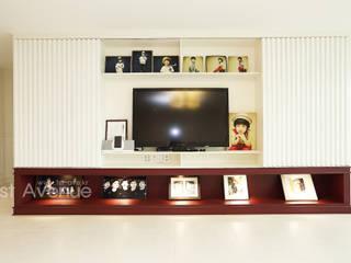 톡쏘는 청량감이 있는 안산 푸르지오: 퍼스트애비뉴의  거실,모던
