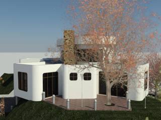 Fachada Lateral Derecha: Casas de estilo minimalista por Bioarke Construcciones C.A.