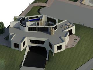 Sección Horizontal de Habitación principal.: Oficinas de estilo minimalista por Bioarke Construcciones C.A.
