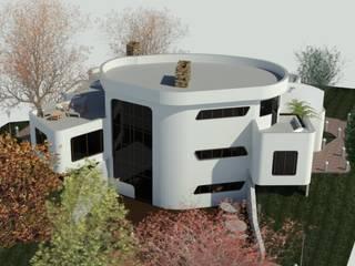 Fachada Posterior: Casas de estilo minimalista por Bioarke Construcciones C.A.