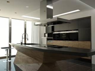 Kuchnia No-mini: styl , w kategorii Kuchnia zaprojektowany przez MS Studio Design