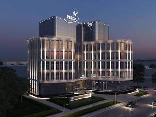 Дизайн элементов экстерьера офисного центра компании PERCO Санкт-Петербург (5000 кв.м.): Офисные помещения в . Автор – ICON