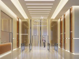Дизайн-проект холла бизнес-центра PERCO: Офисные помещения в . Автор – ICON