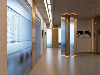 Дизайн интерьеров лифтовых холлов бизнес-центра PERCO (Санкт-Петербург): Офисные помещения в . Автор – ICON