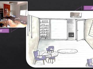 Consultation à domicile / Particulier Chambre moderne par JC Créations d'intérieurs Moderne