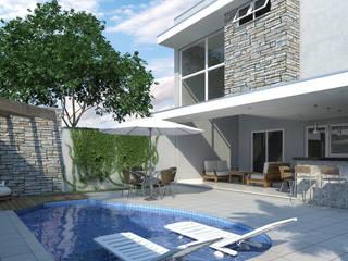 Moderne zwembaden van Jacon Arquitetura Modern