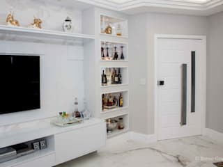 Apartamento na pituba: Salas de estar  por 2nsarq,Clássico