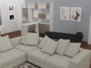 Projeto Sala: Salas de estar  por AnaPacheco - BoConcept Interior Designer,Moderno