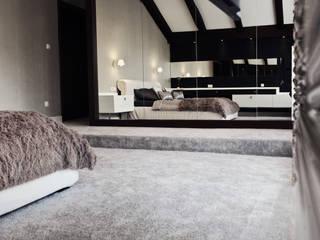 Sypialnia: styl , w kategorii Sypialnia zaprojektowany przez Projektowanie i aranżacja wnętrz Rogalska Design,