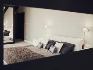 Sypialnia: styl , w kategorii Sypialnia zaprojektowany przez Projektowanie i aranżacja wnętrz Rogalska Design