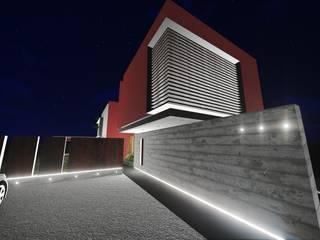 Acceso desde estacionamiento: Casas de estilo  por Estudio Mutuo