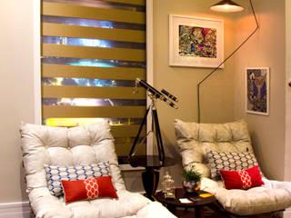 Studio Metrópole Salas de estar ecléticas por FKSA - Arquitetura | Design Eclético