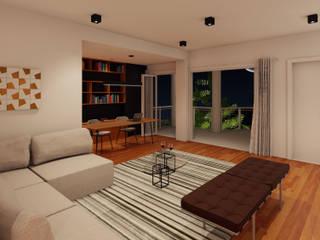 Imagem do estar íntimo: Salas de estar  por Atelier 6 Arquitetura