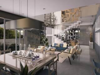 Modern dining room by Diez y Nueve Grados Arquitectos Modern