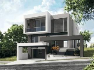 Fachada principal Diez y Nueve Grados Arquitectos Casas de estilo minimalista