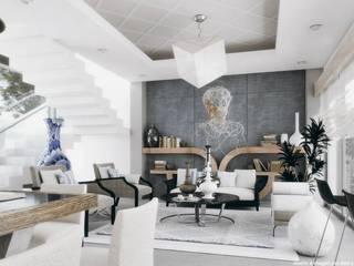 Sala comedor Diez y Nueve Grados Arquitectos Livings de estilo minimalista